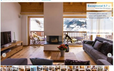 "Chalet Les Rahâs""Exceptional"" rating on booking.com"