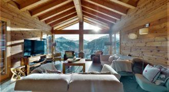 Chalet Heremence 5 bedroom, stunning mountain panorama in 4 Valleys